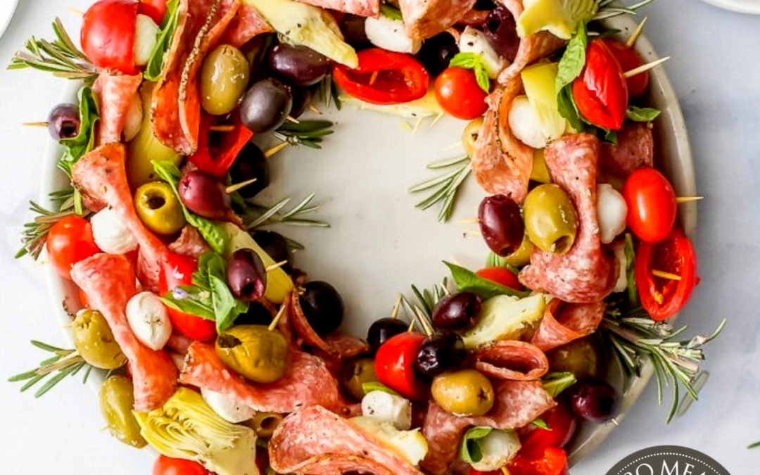 Festive Antipasto Holiday Wreath